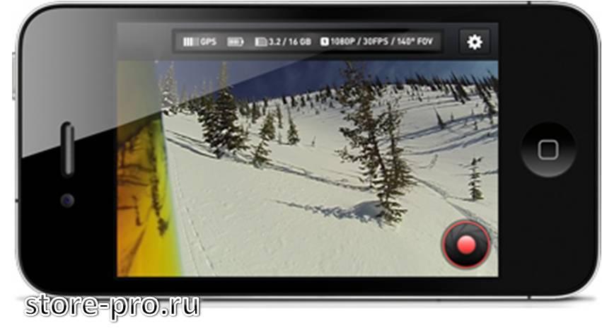 Приложение для камеры Contour +2 на планшет и смартфон для IOS