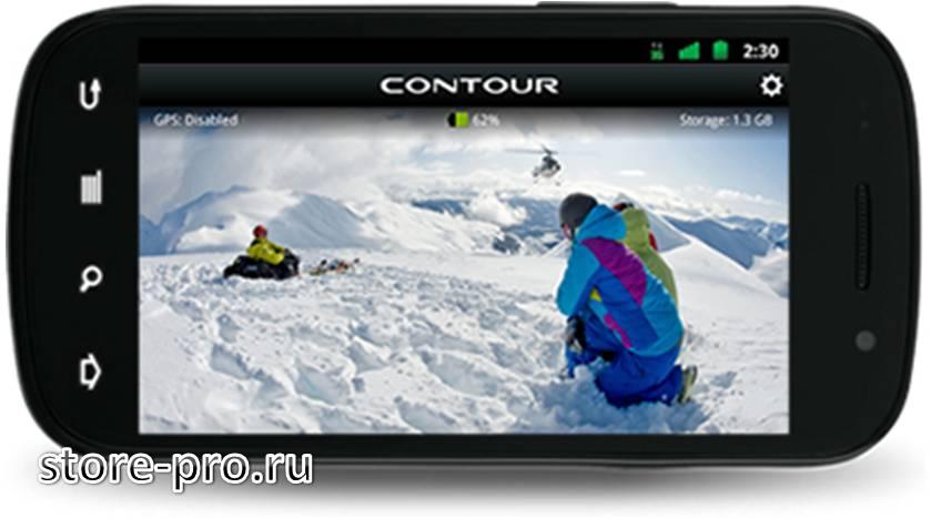 Приложение для камеры Contour +2 на планшет и смартфон для Android