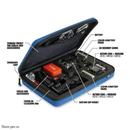 Кейс большой SP POV Case Large для хранения - переноски камеры GoPro, Аксессуаров и Креплений