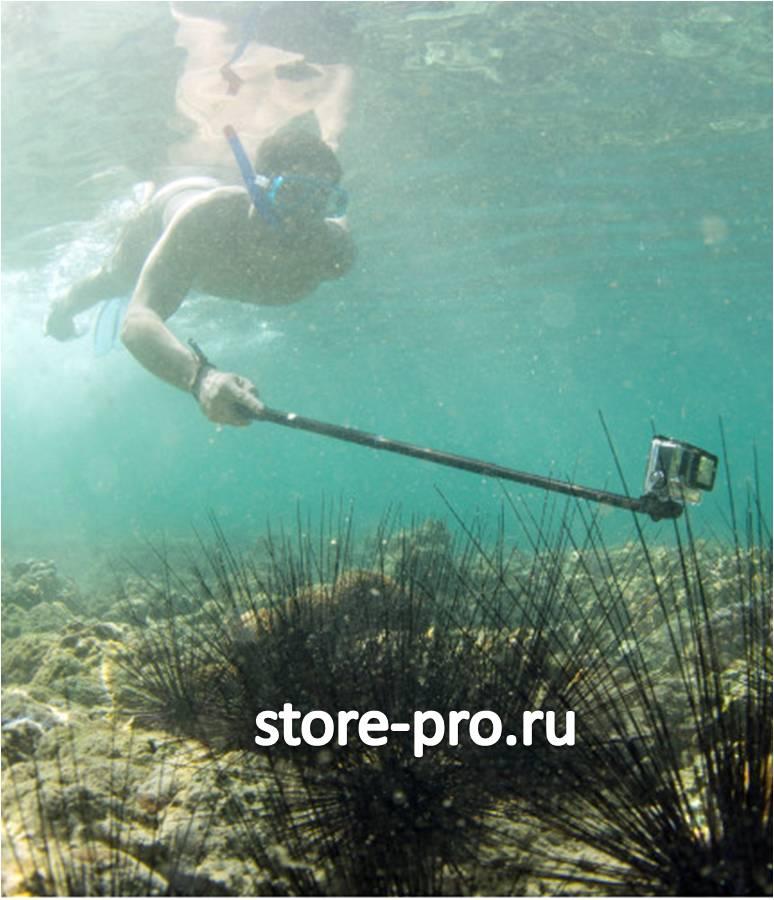 Установка камеры GoPro непосредственно на сам монопод без каких-либо дополнительных креплений! длина 93 см