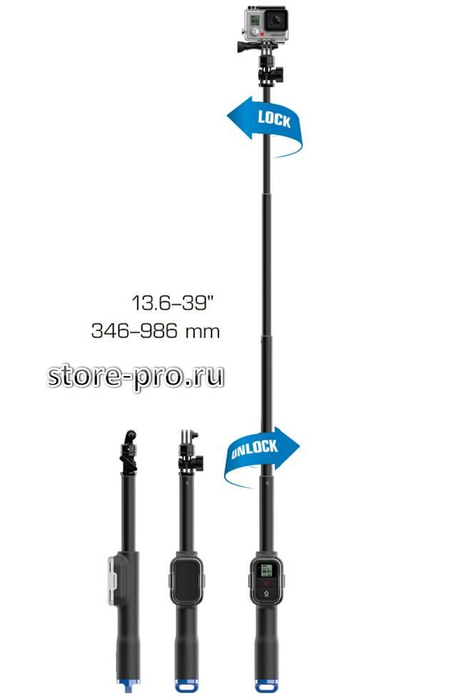 Монопод SP Gadgets Remote Pole 39 с креплением для пульта GoPro