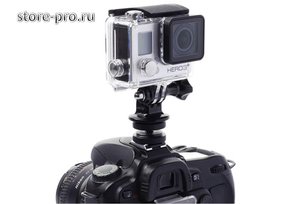 Крепление камеры GoPro, Sjcam, Xiaomi на фотоаппарат