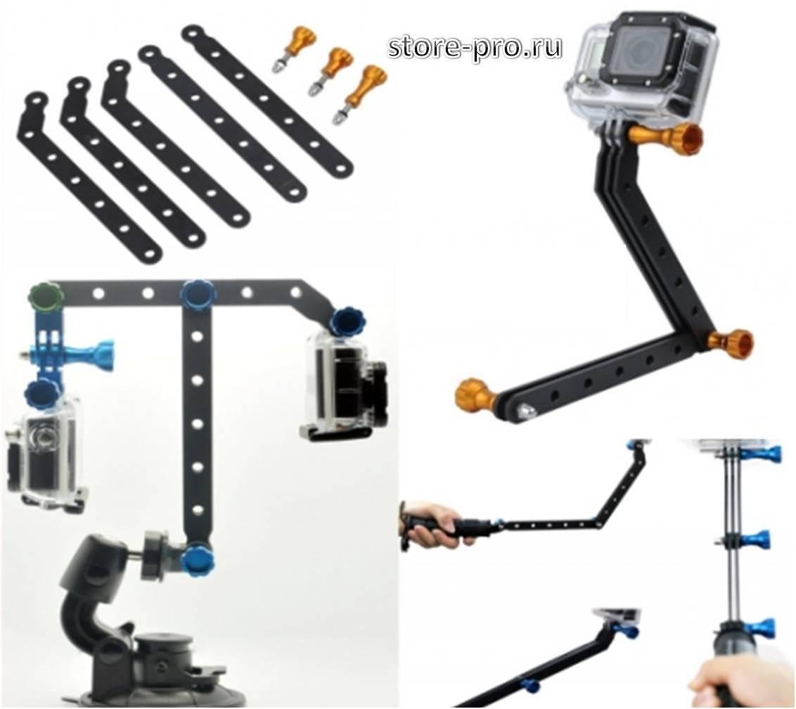 Комплектация алюминиевый удлинитель 30см для камеры Gopro