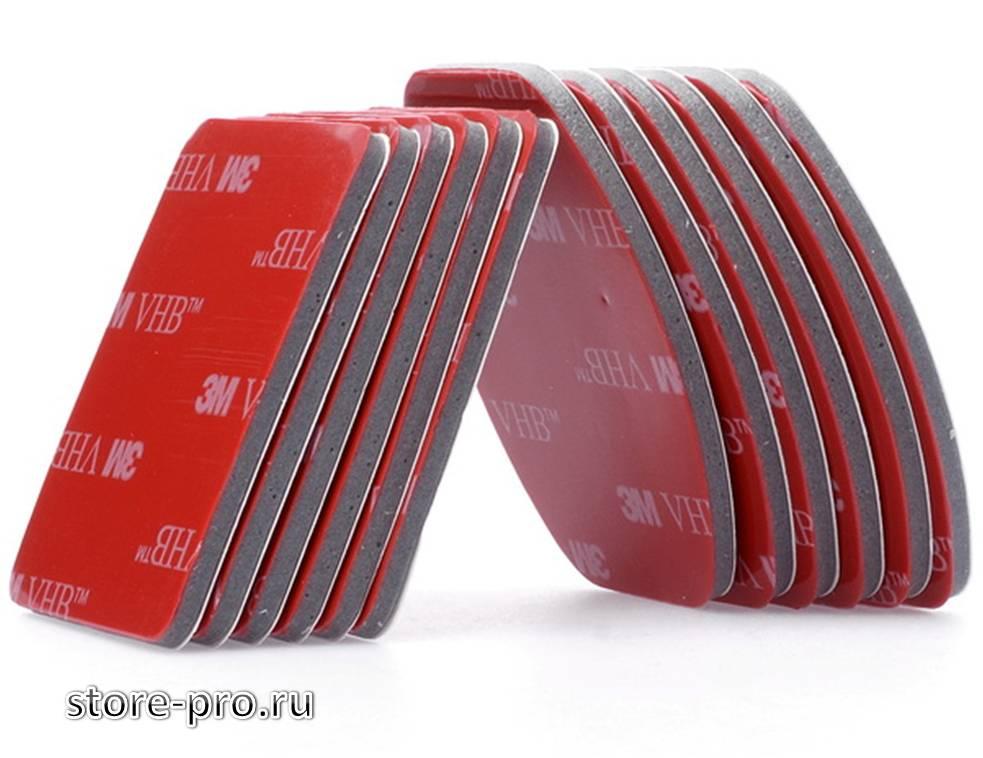 Клеящиеся платформы 3М скотч Flat & Curved для Gopro, Sjcam, Xiaomi купить