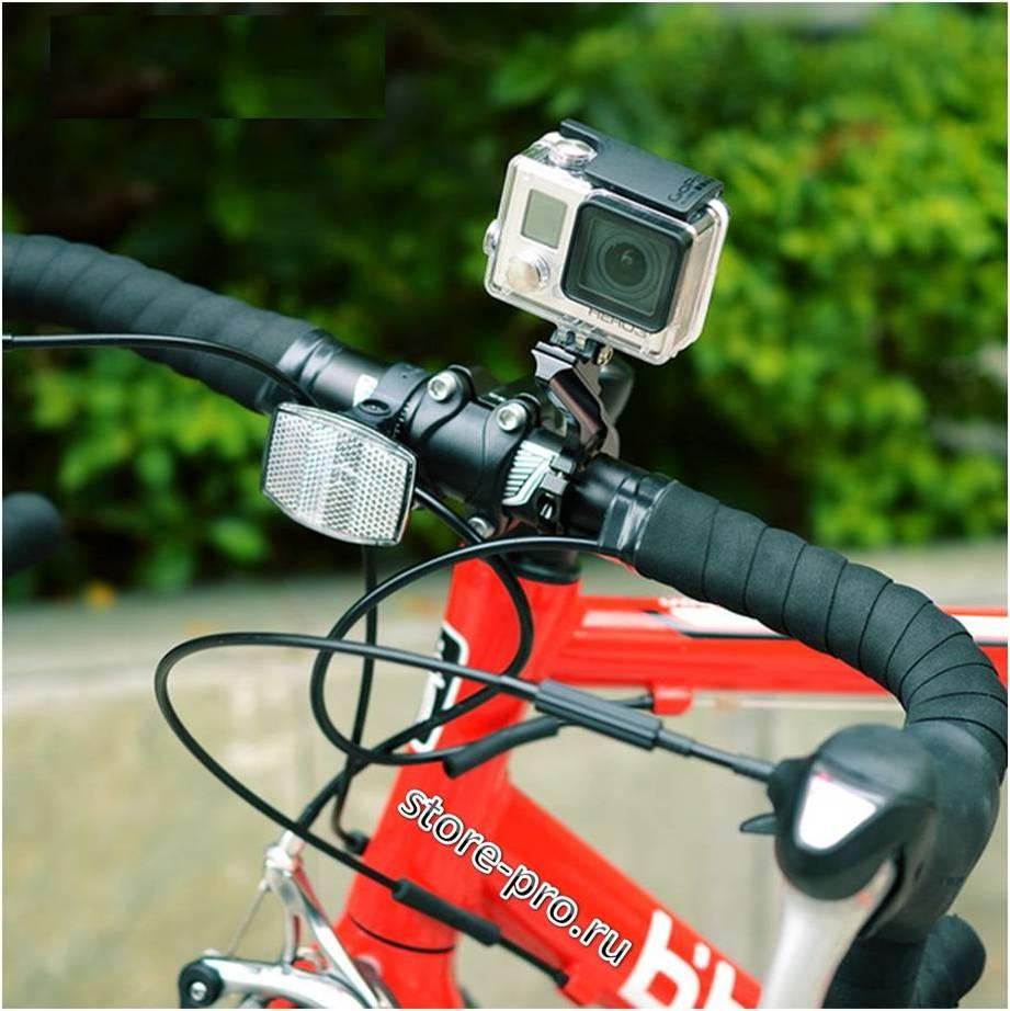Купить алюминиевое крепление на руль для GoPro длинное
