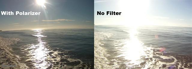 сравнение пурпурного фильтр для GoPro HERO3