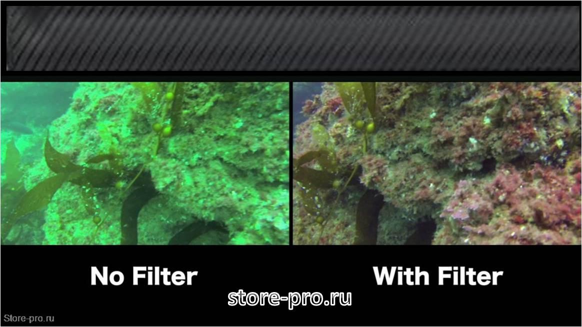 Красный фильтр для GoPro HERO3+ возвращает насыщенный цвет на фото и видео под водой.