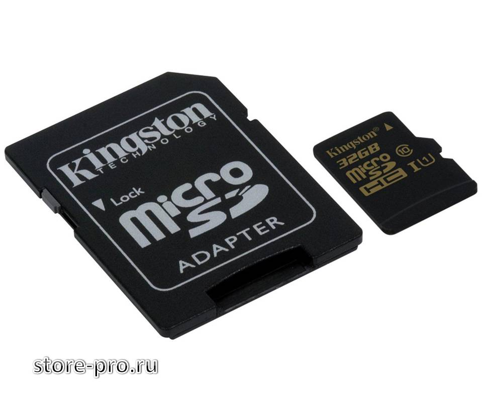 Высоко скоростная карта памяти Kingston microSDHC/SDXC UHS-I 32Gb купить, цена