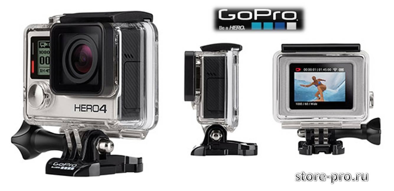 Камера GoPro HERO4 будет представлена в двух вариантах это Black и Silver Edition