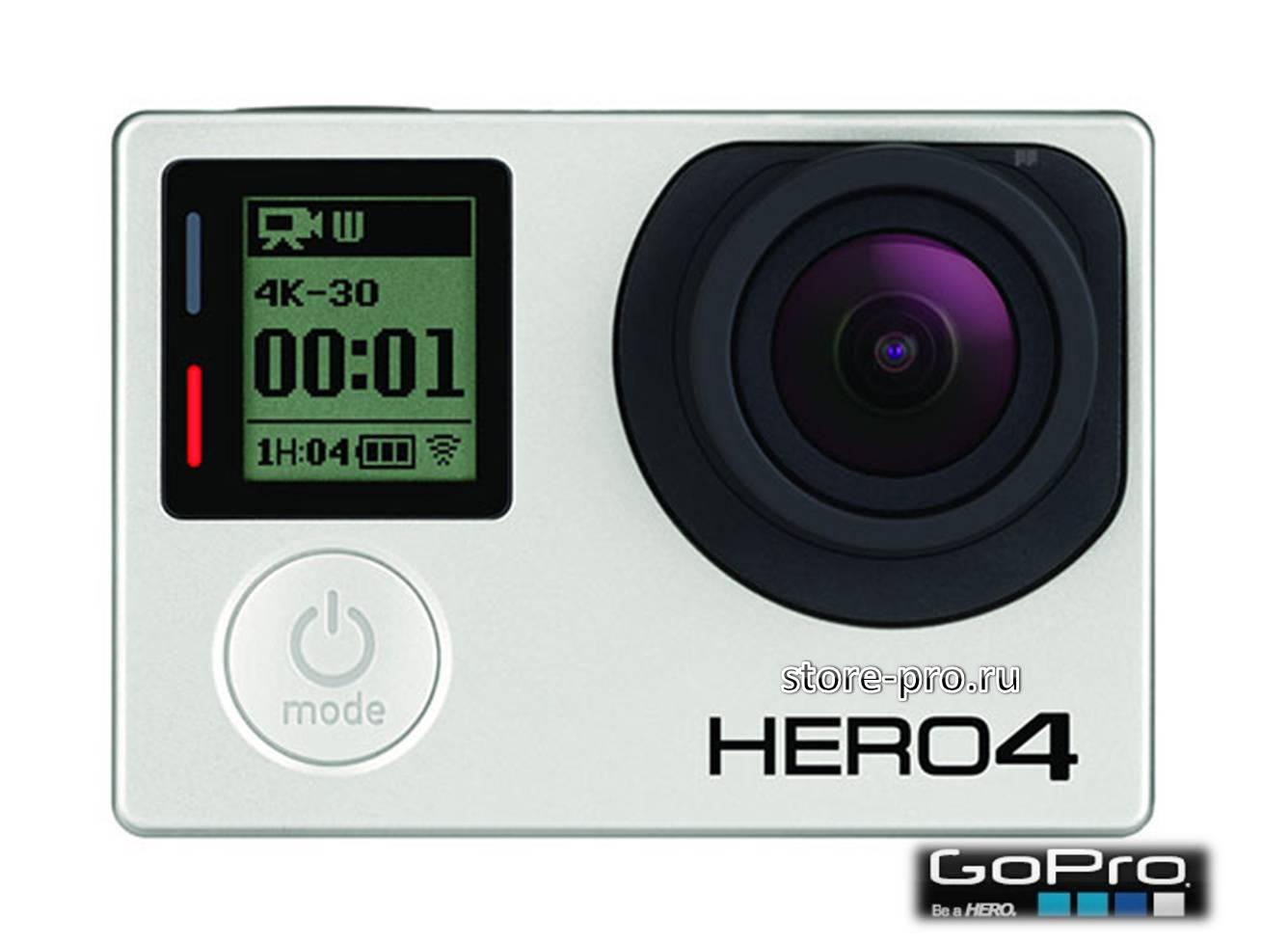 GoPro HERO4 Black Edition будет снимать видео с разрешением 4K Ultra HD и частотой 30 кадров в секунду, а так же иметь встроенный сенсорный LCD дисплей для управления и просмотра отснятого материала!