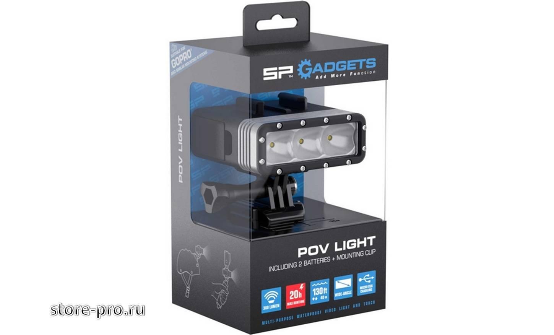 Комплектация подводного фонаря SP POV LIGHT для Gopro