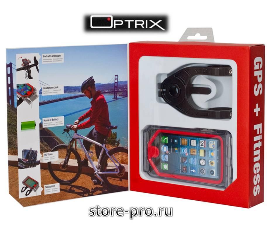 Комплектация: Чехол чехол для iPhone 5 / 5S Optrix CycleX 1шт. Бампер 1 шт. Крепление на руль велосипеда, мотоцикла, квадроцикла, снегохода 1 шт.