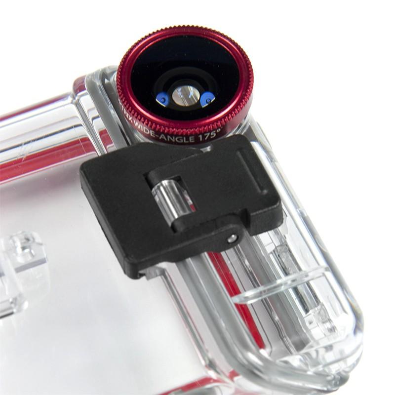Optrix XD5 чехол для iPhone 5 / 5S установлена широкоугольная линза её угол обзора составляет 175 градусов