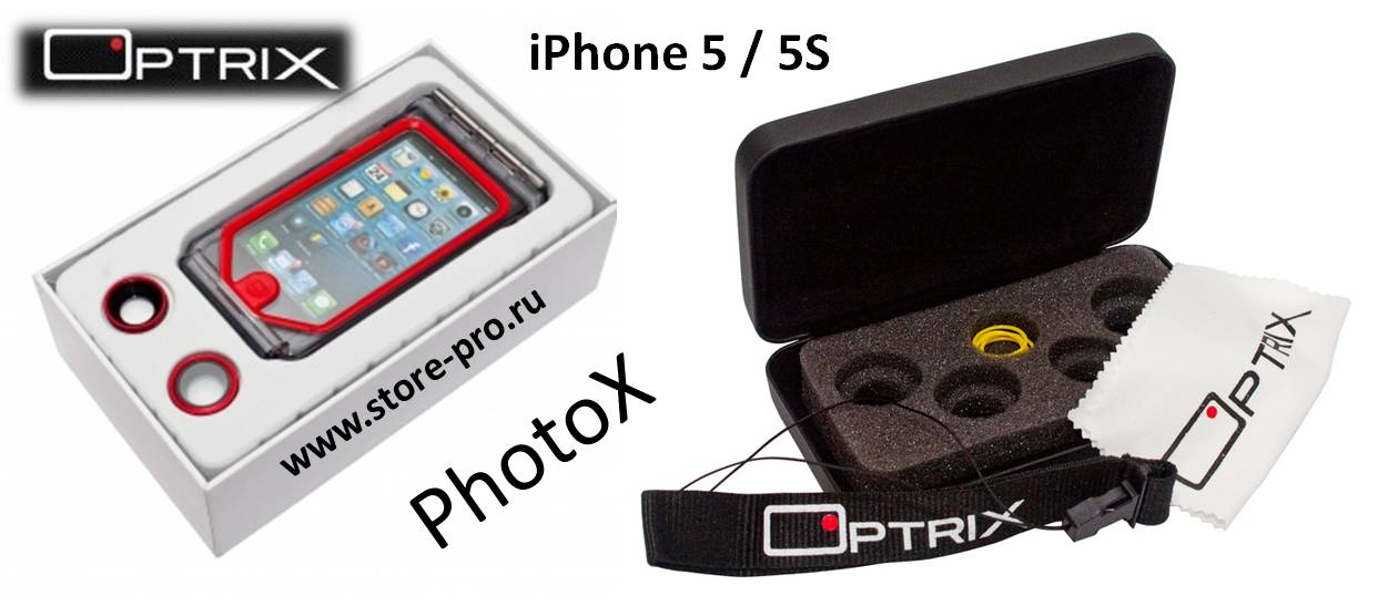 Комплектация чехла Optrix PhotoX для iPhone 5 / 5S
